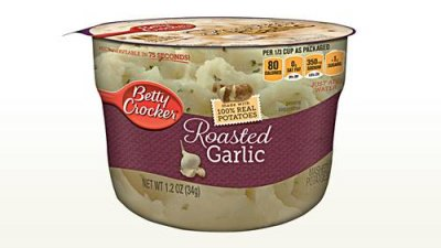 Microwavable Roasted Garlic Mashed Potatoes