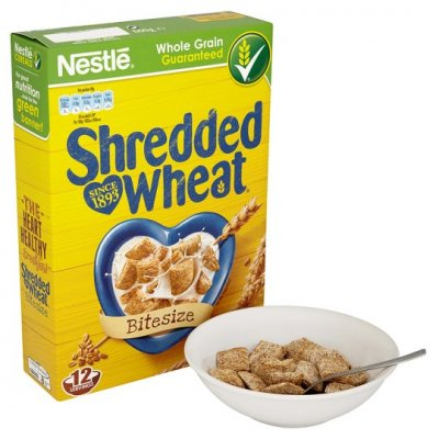 100% Whole Grain Wheat Cereal, Wheat Squares, Bite Sized