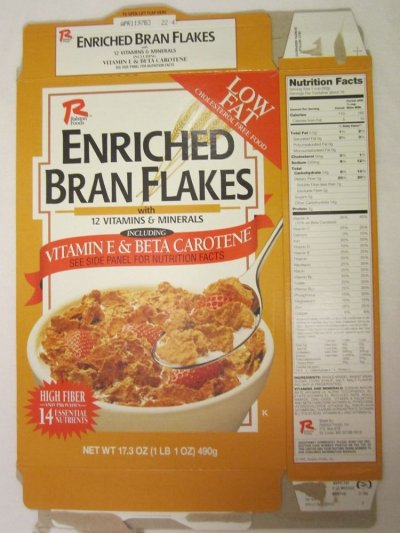 Enriched Bran Flakes Cereal