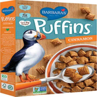 Puffins Cereal, Cinnamon