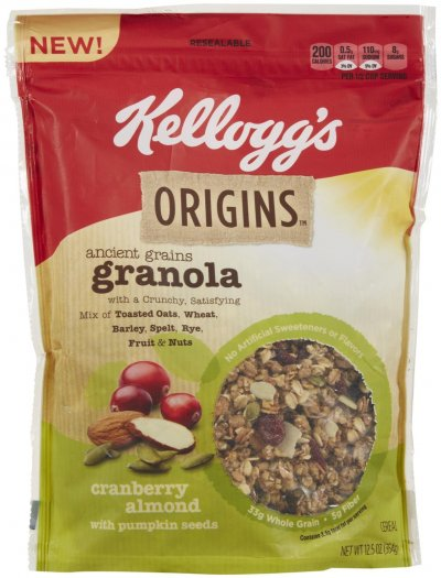 Ancient Grain Granola, Cranberry Almond With Pumpkin Seeds