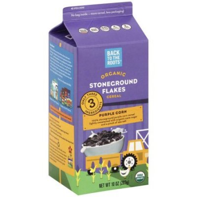 Organic Stoneground Flakes Cereal, Purple Corn