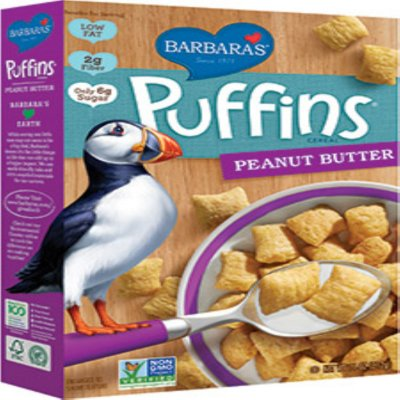 Puffins Cereal, Peanut Butter