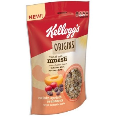 Fruit & Seed Muesli Cereal, Raisin, Apricot, Cranberry With Pumpkin Seeds