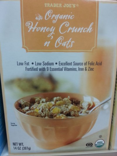 Organic Honey Crunch & Oats Cereal