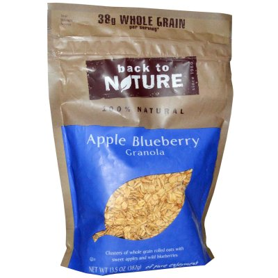 100% Natural Apple Blueberry Granola