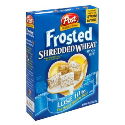 Frosted Shredded Wheat With Protein, Sweetened Whole Grain Wheat Cereal With Soy Protein