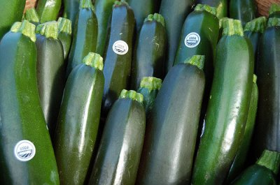 Squash, summer, zucchini, includes skin, frozen, cooked, boiled, drained, without salt
