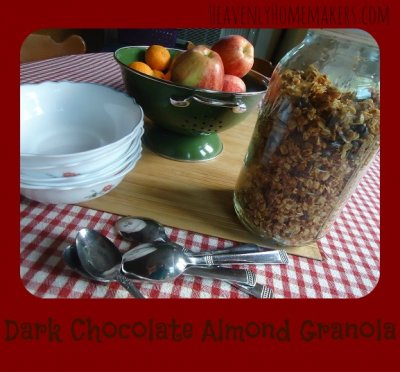 Dark Chocolate Almond Granola