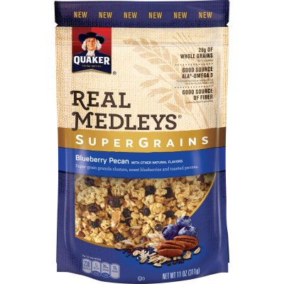 Real Medley, Super Grains, Blueberry Pecan