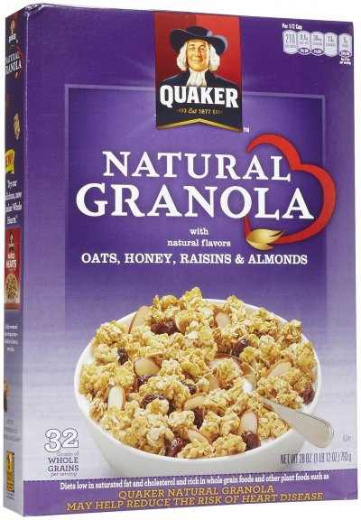 100% Natural Oats & Honey Cereal With Raisins & Almonds
