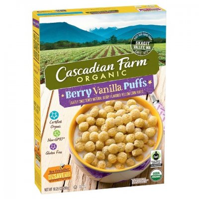 Berry Vanilla Puffs, Lightly Sweetened Naturally Berry Flavored Purple & Yellow Corn Puffs, Gluten Free
