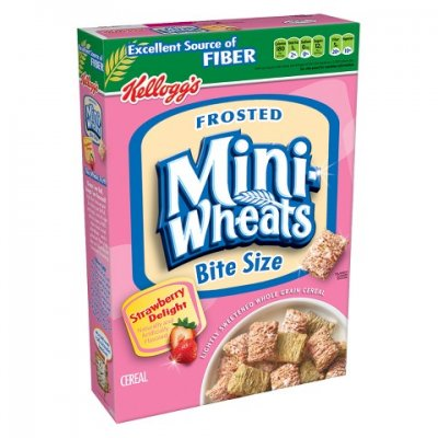 Frosted Bite-Size Strawberry Cream Shredded Wheat Cereal