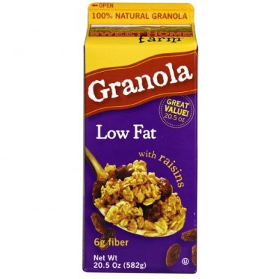 Granola Cereal, Low Fat No-Raisin