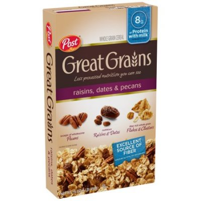Great Grains Whole Grain Cereal Raisins Dates And Pecans