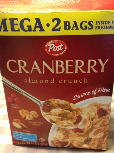 Cereal, Cranberry Almond Crunch