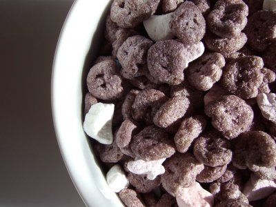 Boo Berry, Artificial Berry Flavor Frosted Cereal Plus Marshamallow Bits