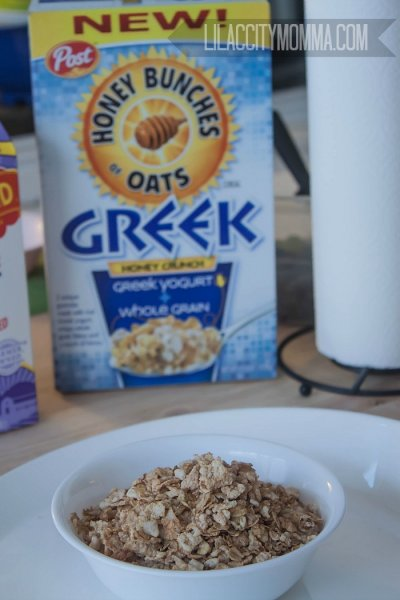 Honey Crunch Greek Yogurt + Whole Grain Cereal