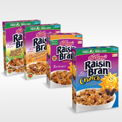 Cereal, Raisin Bran, with Crunchy Oats