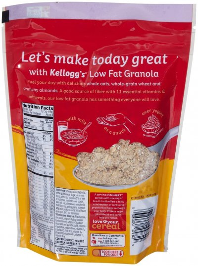 Cereal, Whole Grain, Low Fat Granola with Almonds