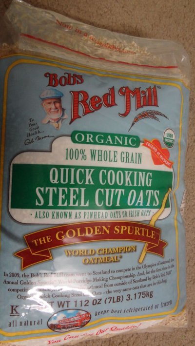 Organic 100% Whole Grain Quick Cooking Steel Cut Oats