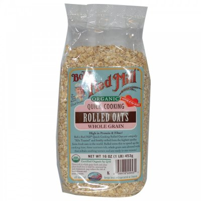 Rolled Oats, Organic, Quick Cooking, Whole Grain