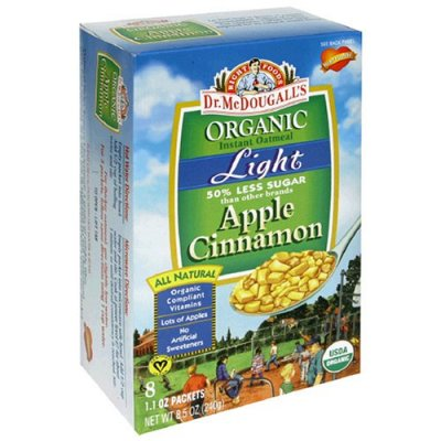 Hot Cereal, Non-Dairy, Organic Apple Cinnamon