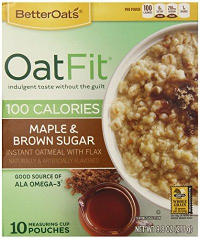 Oat Fit, Maple & brown Sugar Instant Oatmeal With Flax