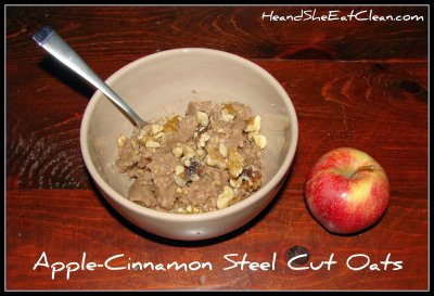 Apple & Cinnamon Steel Cut Oats