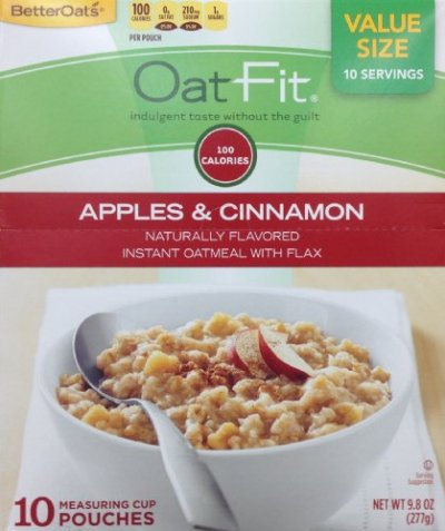 Oat Fit, Apples & Cinnamon Instant Oatmeal