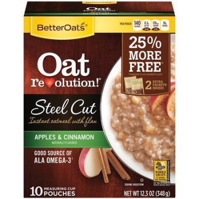 Oat Resolution, Steel Cut Instant Oatmeal With Flax