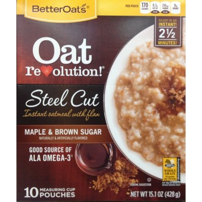 Oat Revolution! Steel Cut Oats with Flax, Maple & Brown Sugar