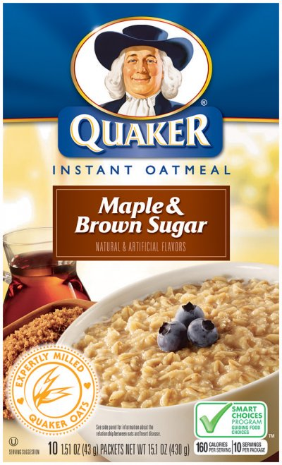 Oatmeal, Instant, Maple & Brown Sugar