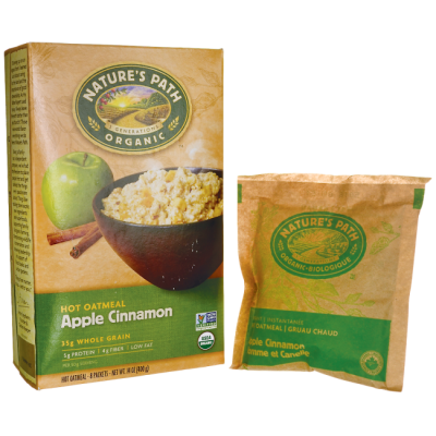 Organic Apple & Cinnamon Instant Oatmeal