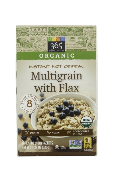 Organic Multigrain with Flax Instant Oatmeal
