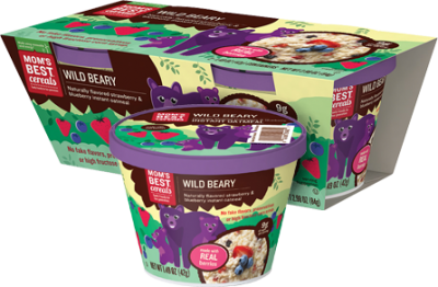 Wild Beary, Naturally Flavored Strawberry & Blueberry Instant Oatmeal