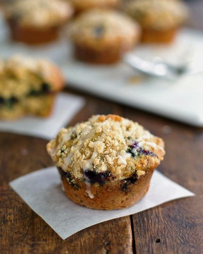 Blueberry Muffins, Oatmeal with Flax