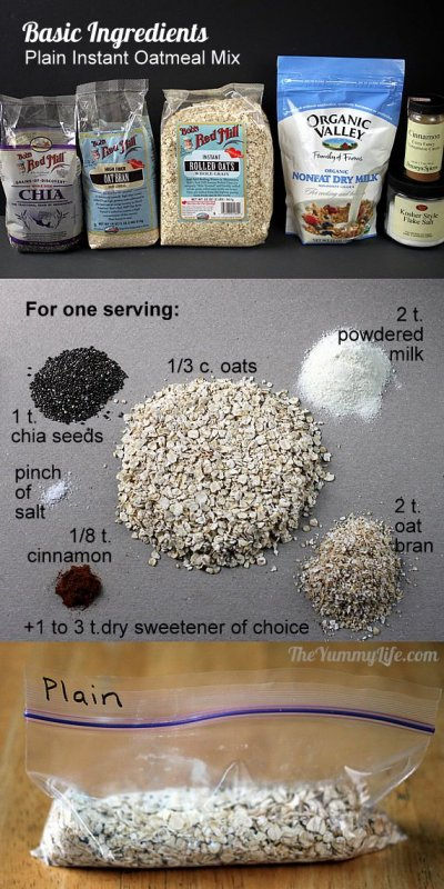 Instant Chia Oatmeal, Maple & Brown Sugar Flavor