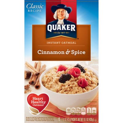 Instant Oatmeal, Cinnamon & Spice