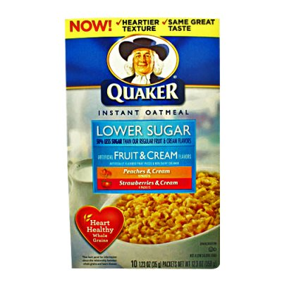Instant Oatmeal, Lower Sugar Flavor Variety