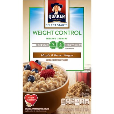 Instant Oatmeal, Weight Control, Maple & Brown Sugar