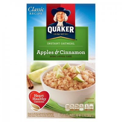 Instant Oatmeal,Apples & Cinnamon 10 Ct