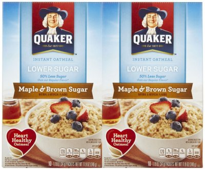Instant Oatmeal,Maple & Brown Sugar Lower Sugar 10 Ct