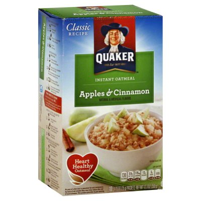 Oatmeal, Instant, Apples & Cinnamon