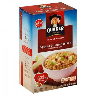 Apples & Cranberries Instant Oatmeal