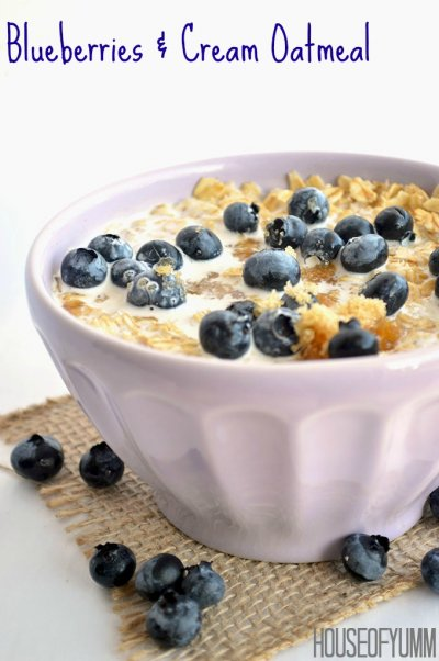 Blueberries & Cream Oatmeal