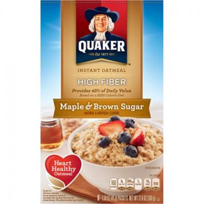 Instant Oatmeal, High Fiber, Maple & Brown Sugar
