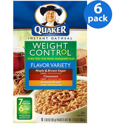 Instant Oatmeal, Weight Control Variety Flavors
