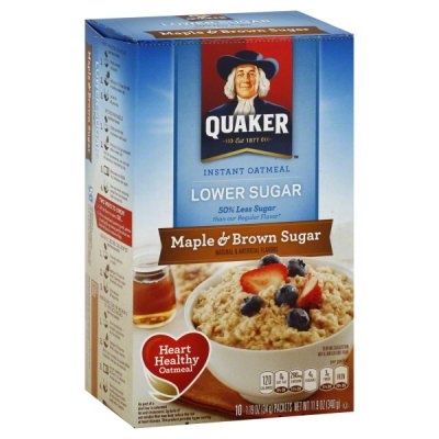 Oatmeal, Instant, Lower Sugar, Maple & Brown Sugar
