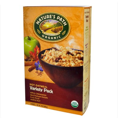 Oatmeal,Variety Instant Organic 8 Packets